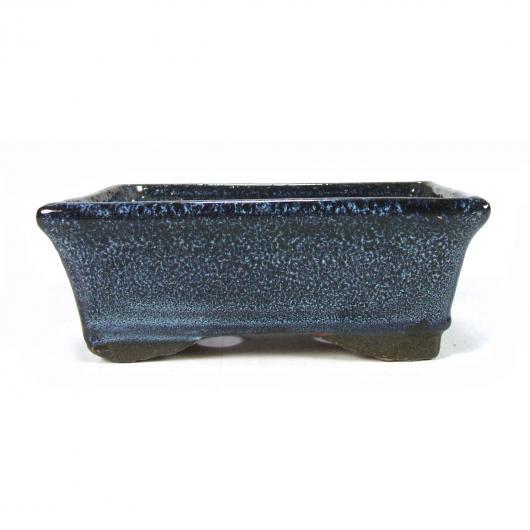 Pot à bonsaï rectangulaire bleu 14 x 9 x 6 cm