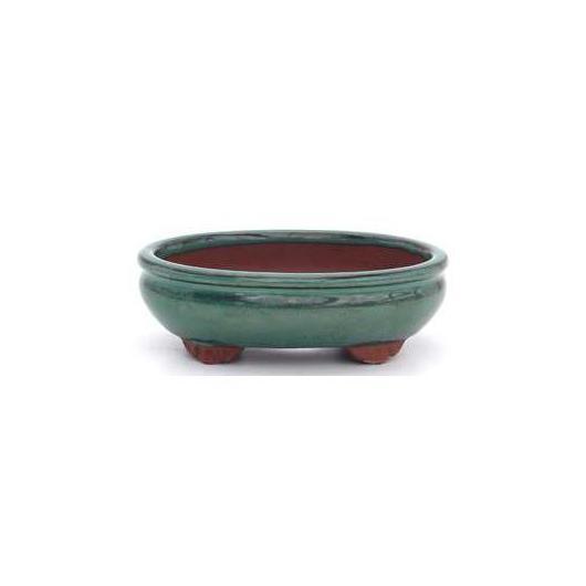 Vaso per bonsai ovale verde