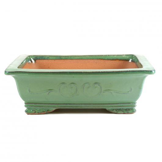 Vaso corea rettangolare verde