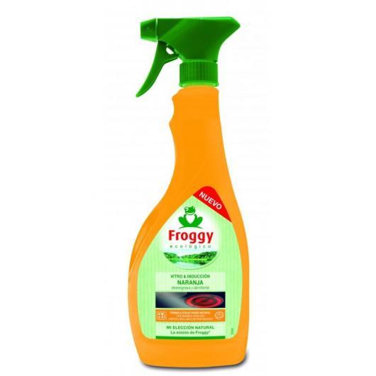 Spray limpiador naranja vitro e inducción Eco Froggy, 500 ml