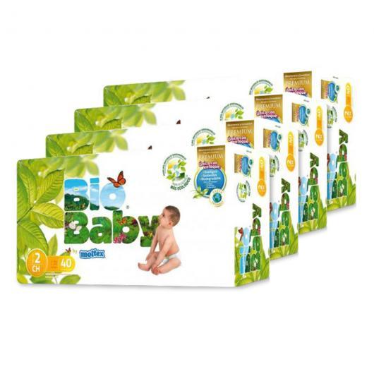 Pack 4 unità pannolini Bio Baby (5-8kg), 40 unità