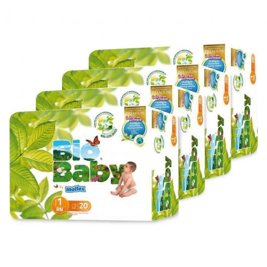 Pack 4 unità Pannolini  Bio Baby (3-6kg) 20 unità