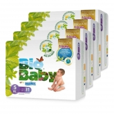 BIO BABY nappies (12-16kg) pack of 4x31 pcs