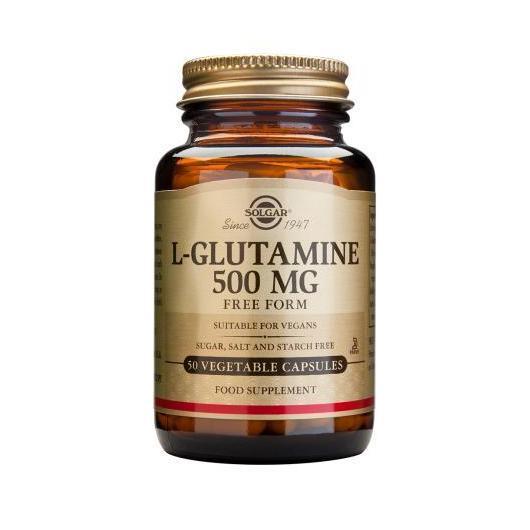 L-Glutamina 500 mg Solgar, cápsulas vegetales