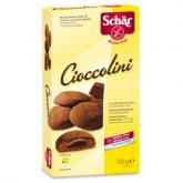Galletas rellenas de chocolate sin gluten Cioccolini Dr. Schaer 150gr