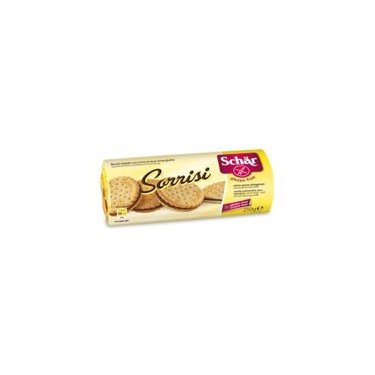 Galletas con crema de cacao sin gluten Sorrisi Dr.Schaer, 250g