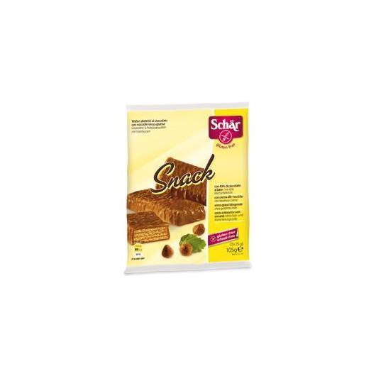 Tres barquillos de chocolate sin gluten Snack Dr.Schaer 105g