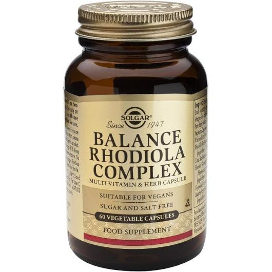 Balance Rodiola Complex Solgar, 60 cápsulas vegetales