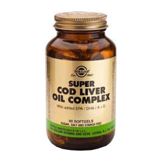 Super Cod Liver Oil Complex Solgar, 60 capsule morbide