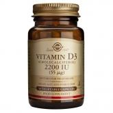 Vitamina D3 (colecalciferolo) 2200 UI (55μg) Solgar, capsule vegetali