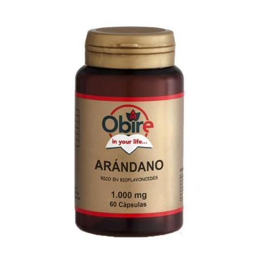 Arandano ( ricco di bioflavonoidi ) 1000mg Obire, 60 capsule