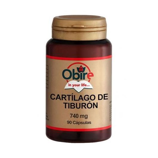 Cartílago de tiburón 740 mg Obire, cápsulas