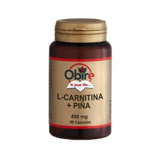 L-Carnitina y piña 450 mg Obire, 90 cápsulas
