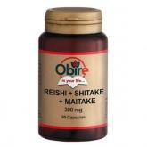 Reishi Shitake Maitake 300 mg Obire, 90 cápsulas