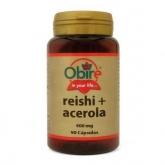 Reishi ( micelio ) y Acerola 400 mg Obire, 90 cápsulas