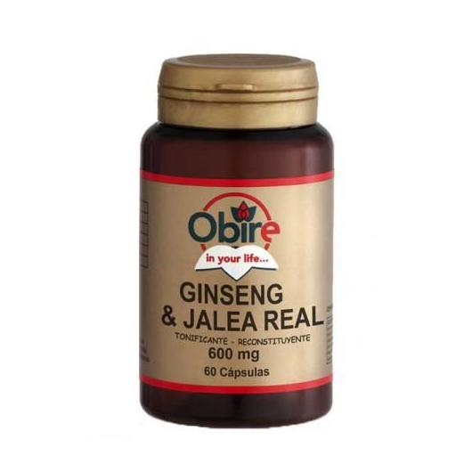 Ginseng e Pappa Reale 600 mg Obire, 60 capsule