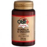 Borraja y Onagra 700 mg Obire,  110 cápsulas