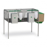 Rabbit cage with two compartments - females + fattening
