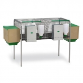 Rabbit cage 2 compartments for females