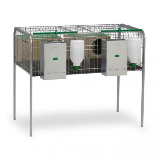 Cage à lapins pour deux femelles Modèle Silleda