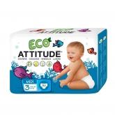 Pañales eco T3 (5-11 kg) Attitude, 30 unidades