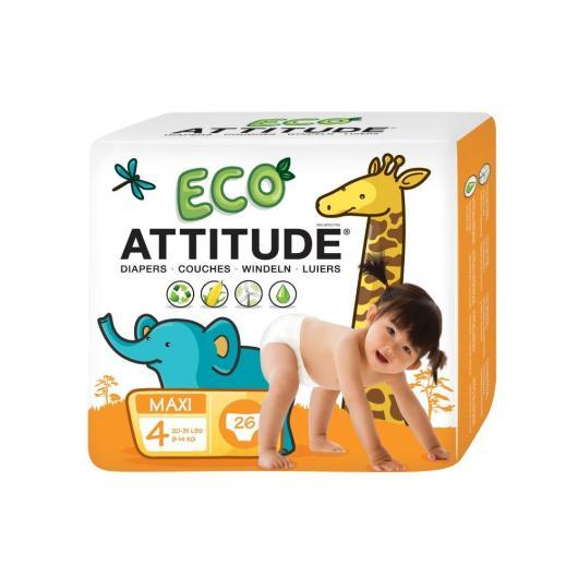 Pañales eco T4 (9-14 kg) Attitude, 26 unidades