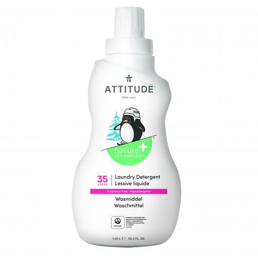 Detergente Sin Perfume eco lavadoras líquido Attitude, 1050 ml