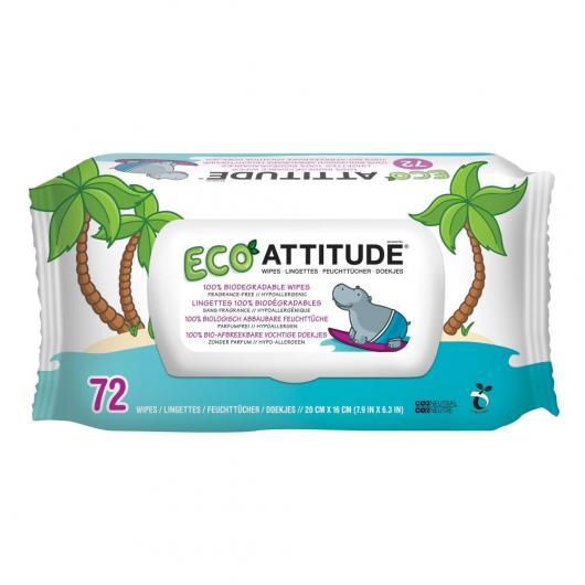 Toallitas eco para bebé Attitude, 72 unidades