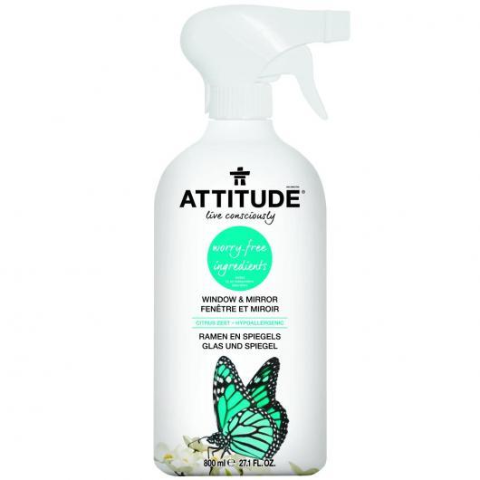 Limpiacristales eco en spray Lima y Lavanda Attitude, 800 ml