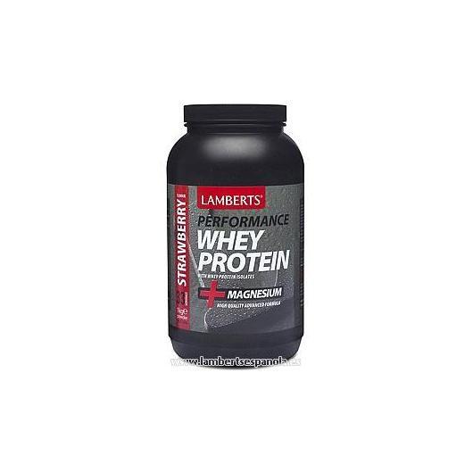 Whey Protein sapore fragola Lamberts, 1 kg
