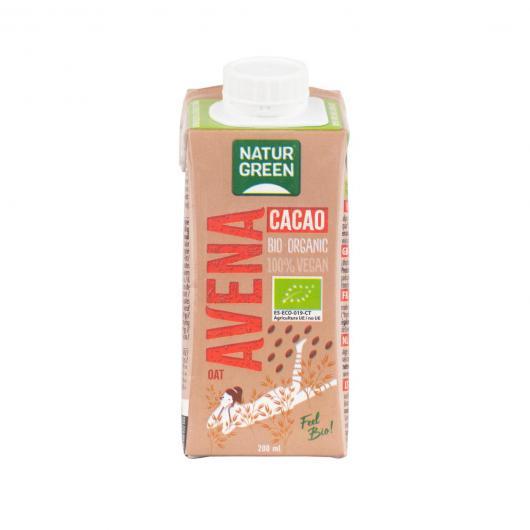 Bevanda di Avena Choco Calcio NaturGreen, 200 ml