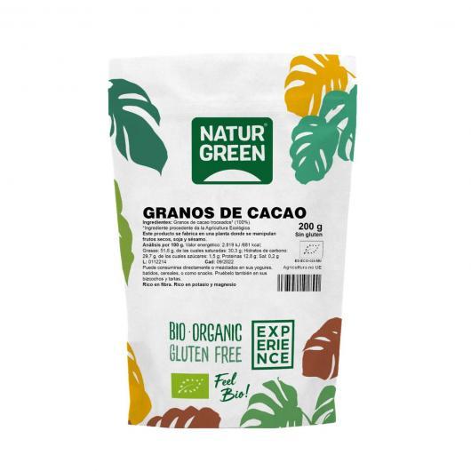 Grano de Cacao Troceado (Nibs) Naturgreen, 200 g