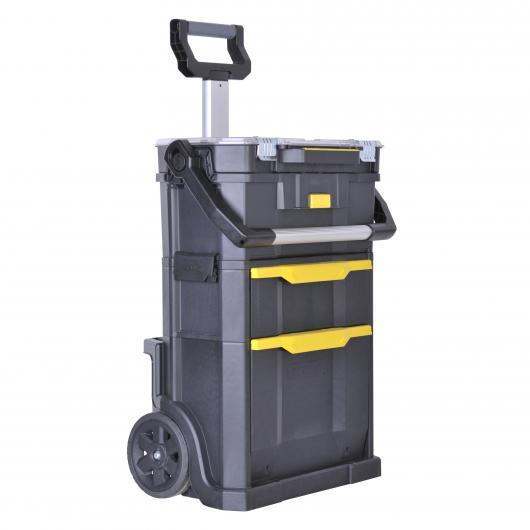 Taller móvil modular y caja de herramientas 2 en 1 Stanley