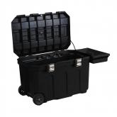 Officina mobile carbonile di transporto grande con serratura Stanley