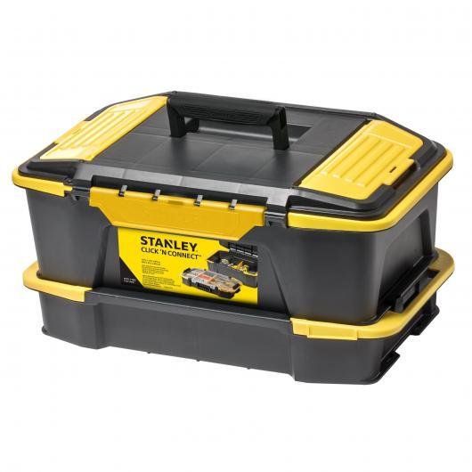 Cassetta degli attrezzi con scompartimenti Click & Connect Stanley