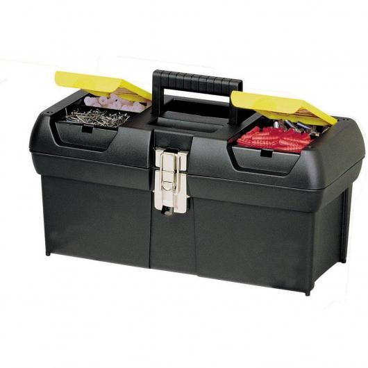 Caja de herramientas Milenium con cierres metálicos