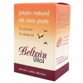 Jabón pastilla coco puro sin perfume Beltrán Vital, 240 g
