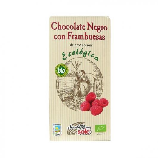 Chocolate Negro 56% con Frambuesas SOLÉ 100 g