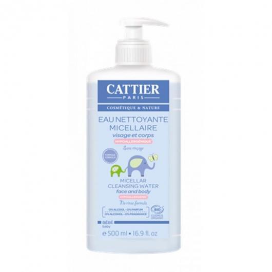 Acqua micellare viso e corpo per bebé Cattier, 500 ml