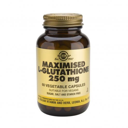 L-Glutatión Maximizado 250 mg Solgar, 60 cápsulas