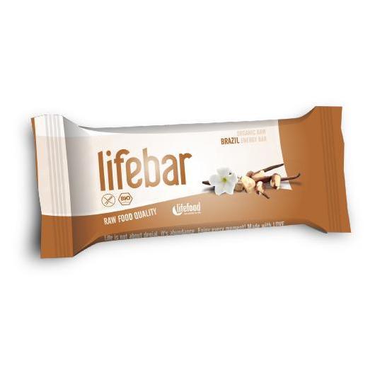 Barretta Lifebar Bio Noci del Brasile Lifefood, 47 g