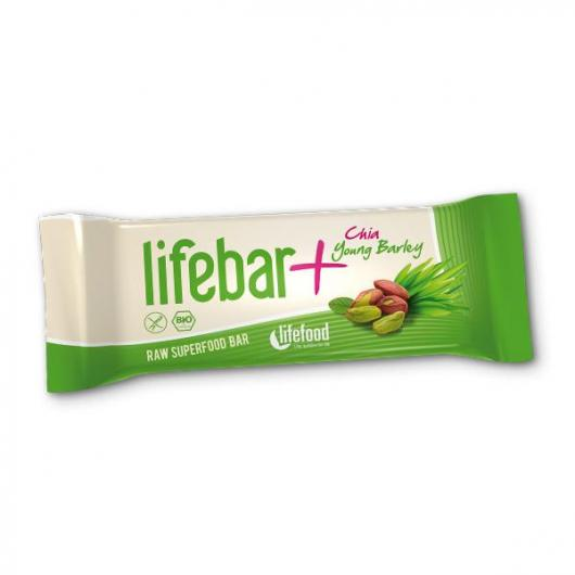 Barrita Lifebar Plus Bio Hierba de Cebada y Chía Lifefood, 47 g