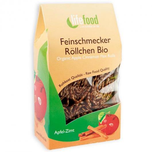 Snack Rolls Mela e Cannella Bio Lifefood, 80 g