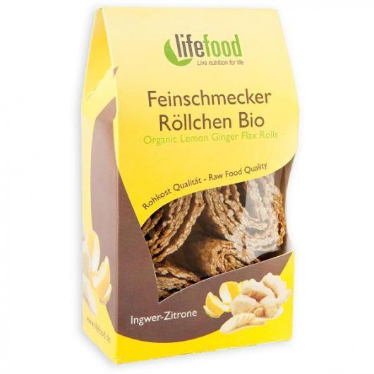 Snack Rolls Limón y Jengibre Bio Lifefood, 80 g