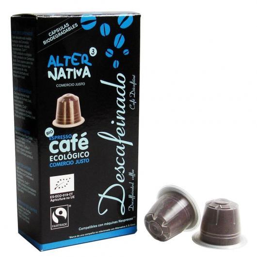 Cápsulas de Café Descafeinado Alternativa, 10 uds 5,5 g