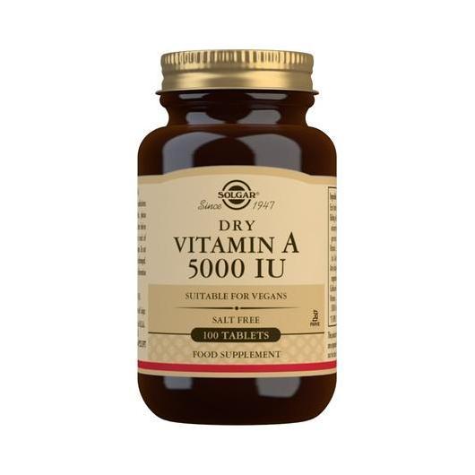Vitamina  A Secca con Vitamina C Solgar, 100 compresse