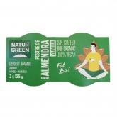 Sobremesa de amêndoas baunilha Naturgreen, 2 x 125 g