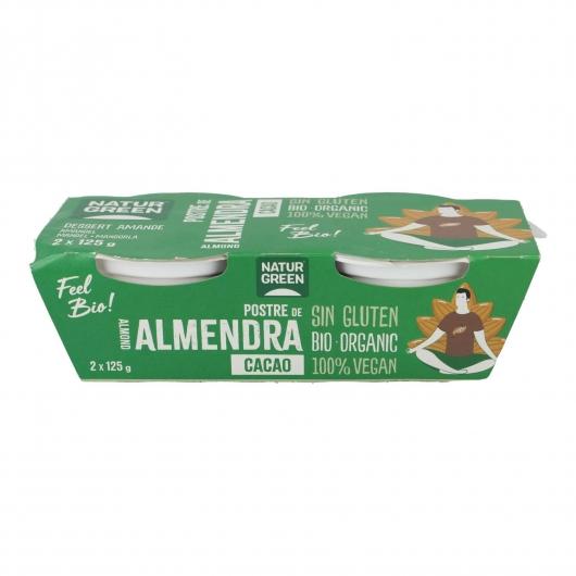 Postre de Almendras y Cacao NaturGreen,  2 x 125 g