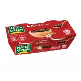 Sobremesa avelã cacau NaturGreen, 2 x 125 g