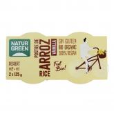 Sobremesa de Arroz Baunilha NaturGreen, 2 x 125 g